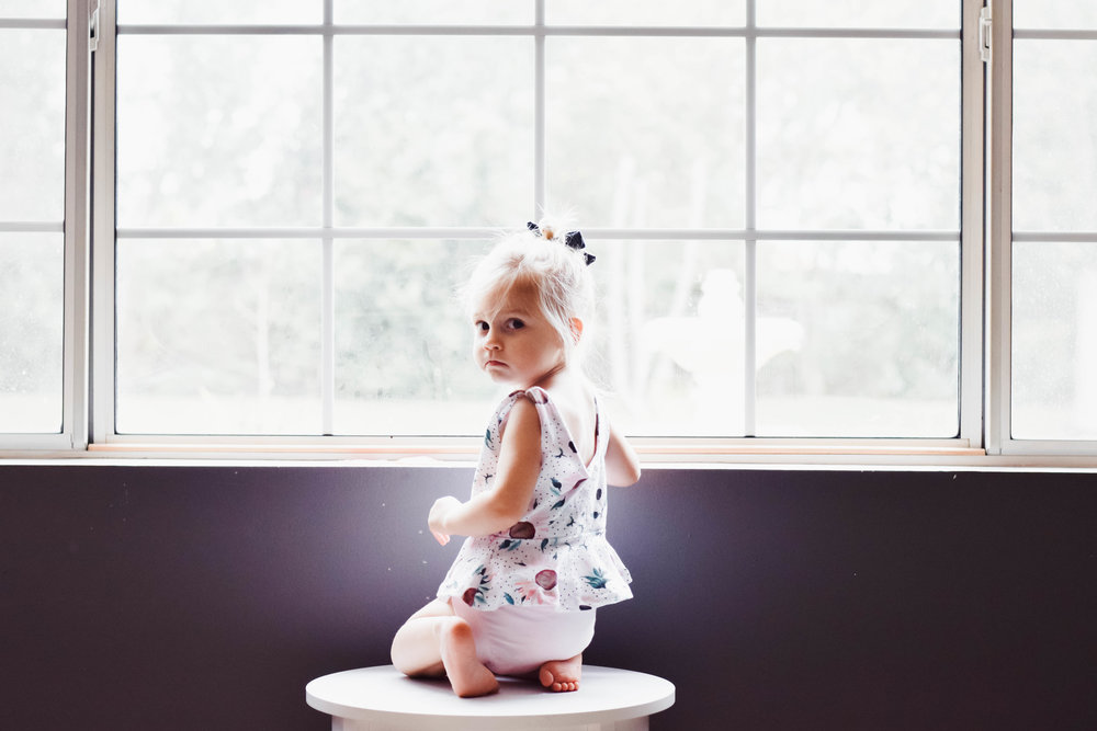 Cute Spring Kids Clothes -- Kids Floral Peplum + Light Pink Bloomers -- Mommy Blog - The Overwhelmed Mommy