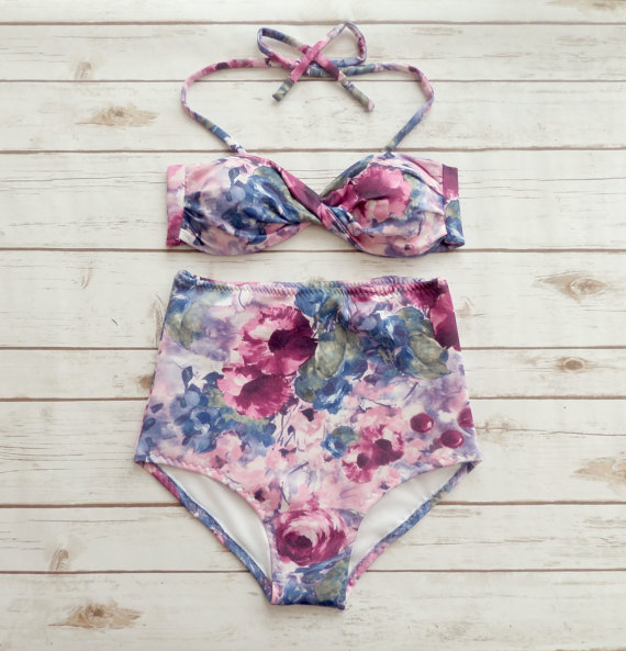 High Waisted Bikini-Swimsuit -- Mommy Blogger - The Overwhelmed Mommy