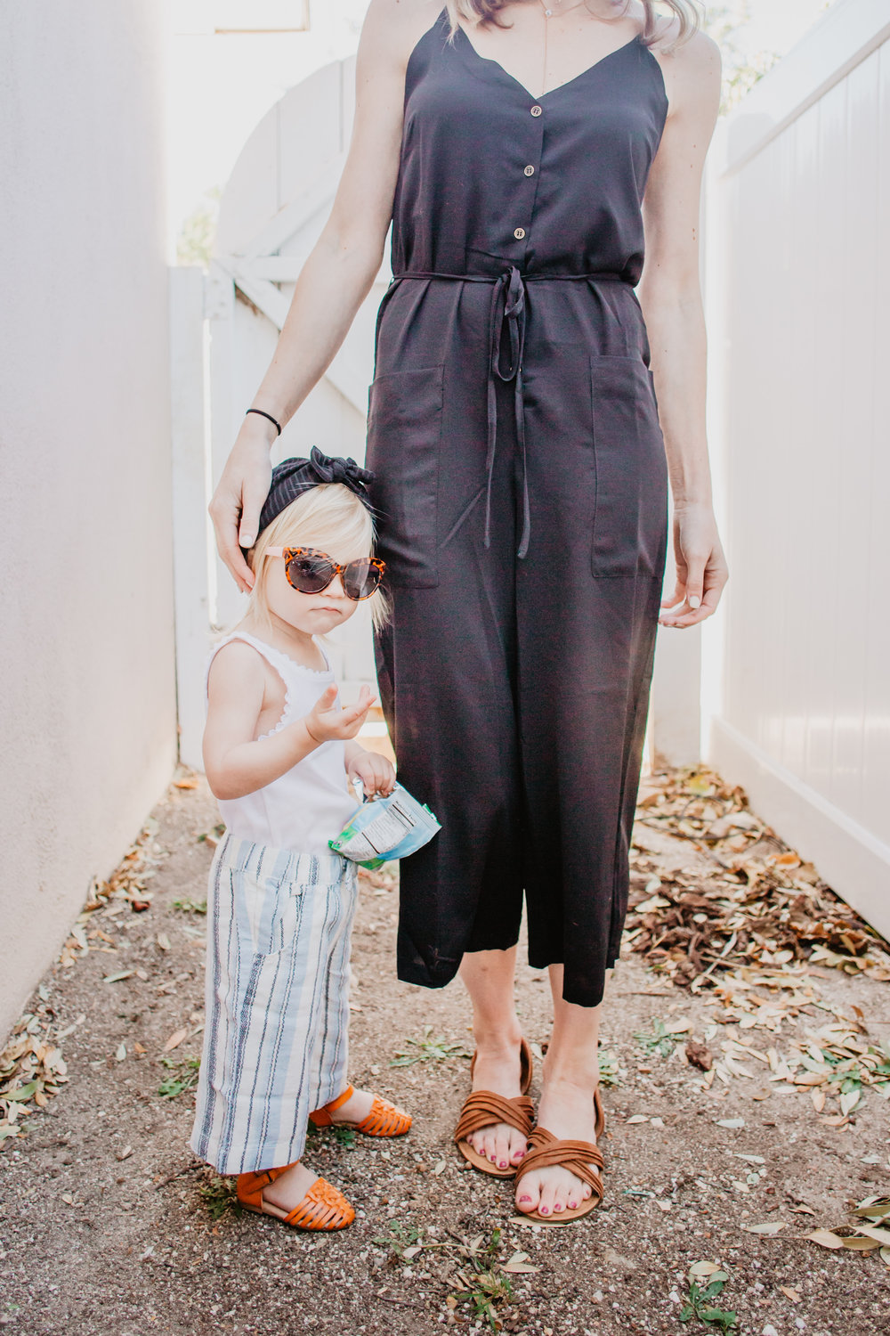Cute Spring Kids Clothes - Kids Gaucho Pants - Black Women's Romper - The Overwhelmed Mommy