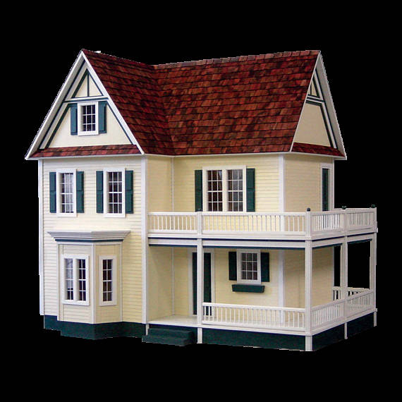 Cute Wooden Dollhouses -- The Overwhelmed Mommy Blogger
