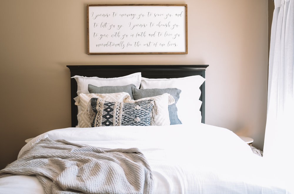Gorgeous Master Bedrooms - Home Decor -- The Company Store -- The Overwhelmed Mommy Blogger