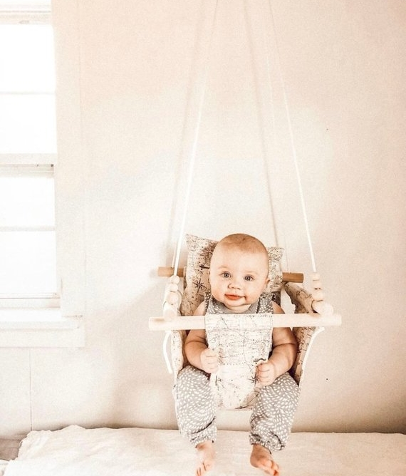 Indoor Baby Swing - Toddler Girl Holiday Christmas Gift Ideas Unique - The Overwhelmed Mommy Blogger