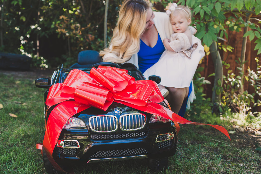 Kids Electric BMW Car - Toddler Girl Holiday Christmas Gift Ideas Unique - The Overwhelmed Mommy Blogger