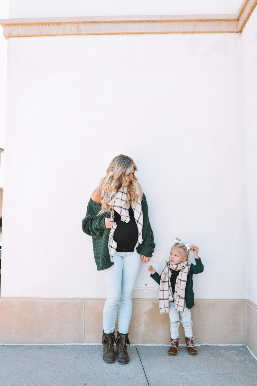 Cute Mommy and Me Clothes Sweaters Scarves - The Overwhelmed Mommy Blogger