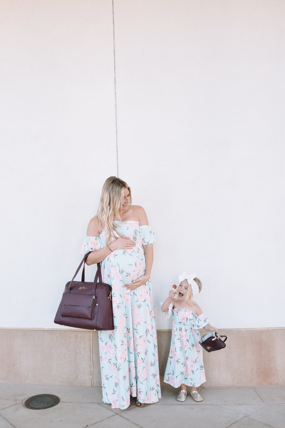 Mommy and Me Dresses - JuJuBe Wherever Weekender Plum - The Overwhelmed Mommy Blogger