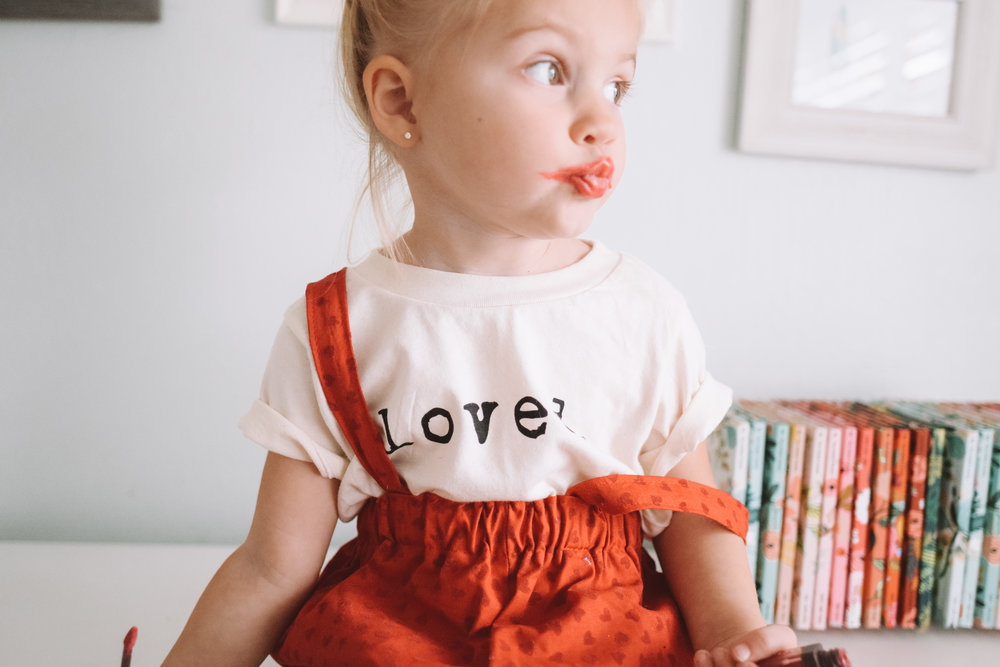 Cute Baby Girl Kids Valentine's Day Outfit - The Overwhelmed Mommy Blogger