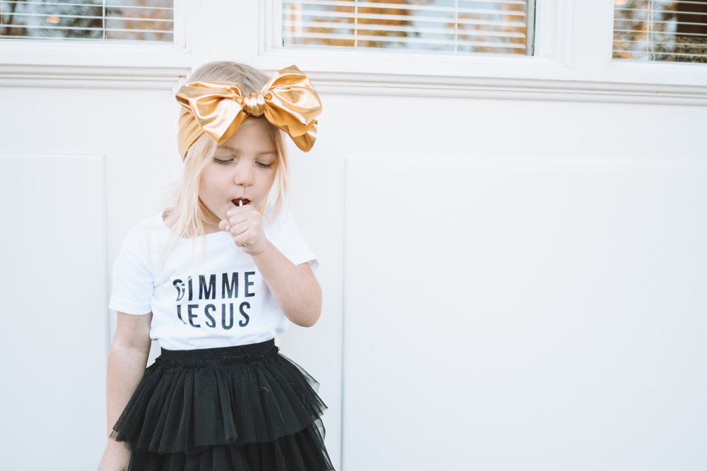 Gimme Jesus Kids Shirt - Cute Baby Kids Clothes - The Overwhelmed Mommy Blogger