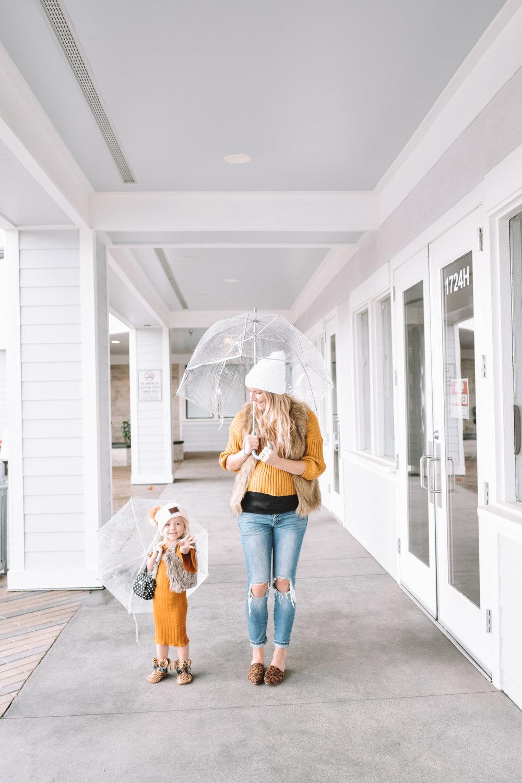 Mommy and Me White Beanies · Women s Mustard Sweater  07850c44205b