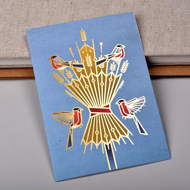 Christmas Sheaf Card, photo courtesy of Stefan Govasli