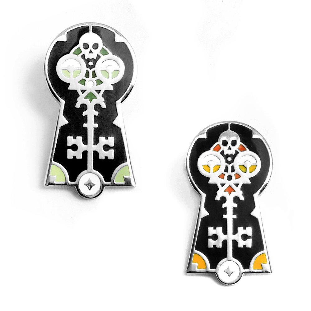 Skeleton Key Enamel Pins