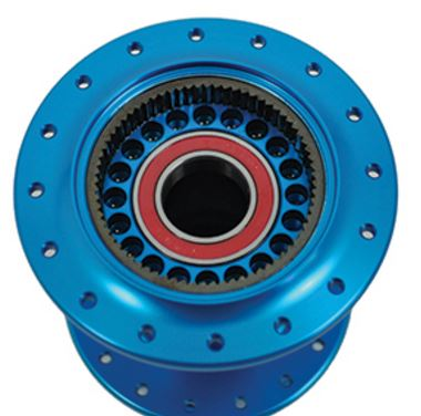 Holes drilled for additional oil volume for noise and service