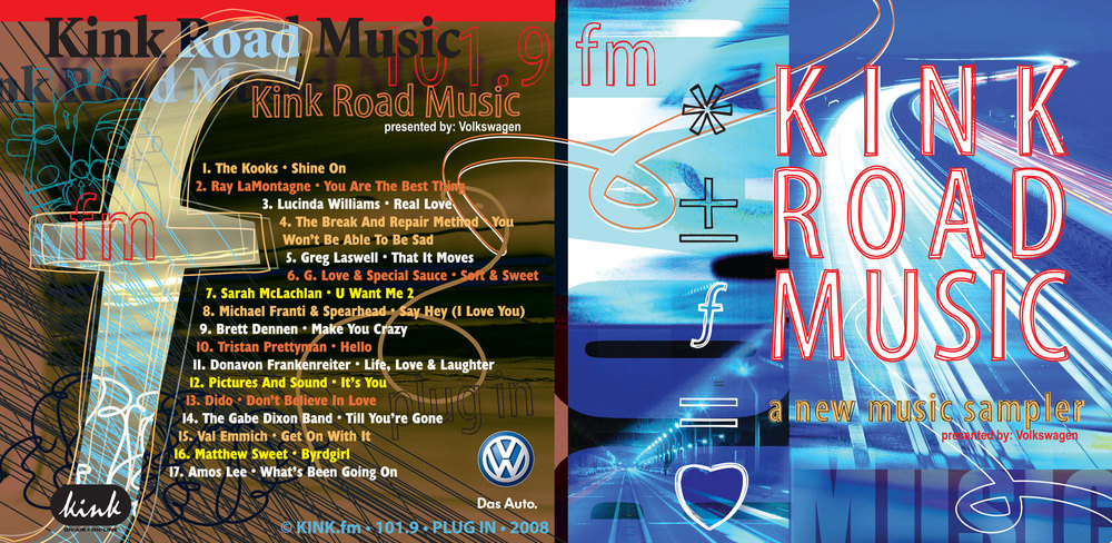 kink.fm road music sponsored by VW