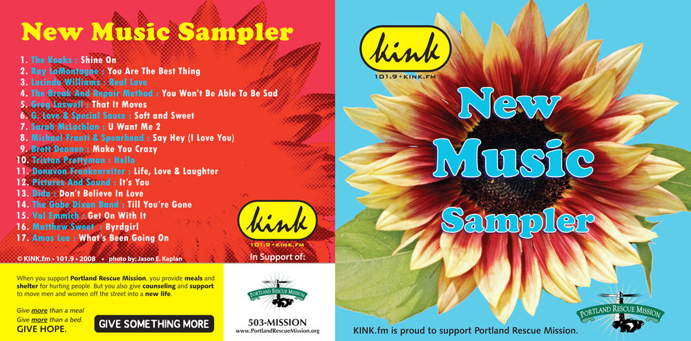 kink.fm new music sampler sponsored by portland rescue mission