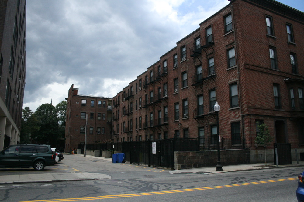 BEFORE - view of yards from the street