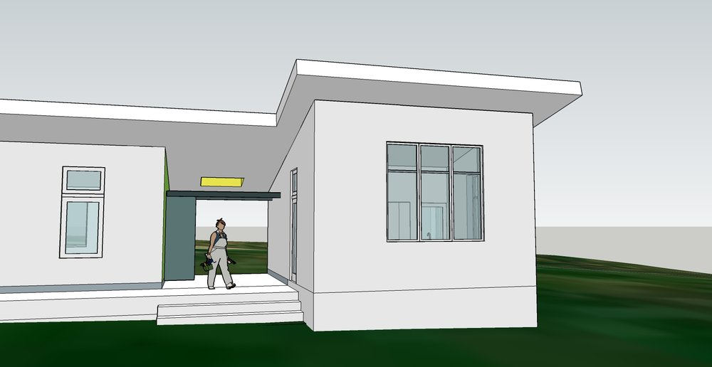 Final Proposal - breezeway with exterior shower