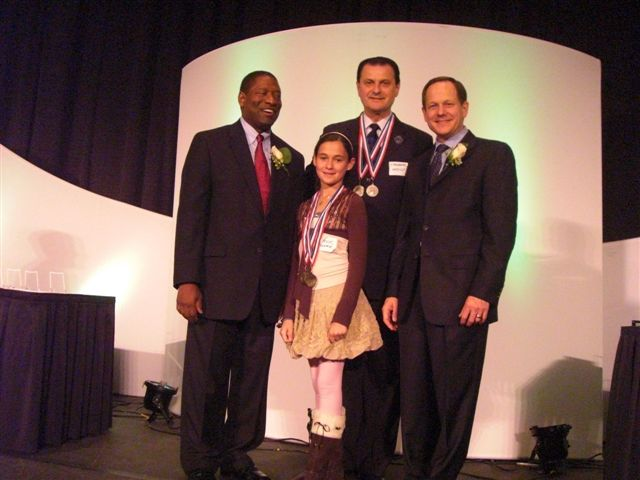 Valerie Pelts, Vassily Lyashenko, Mayor Francis Slay 2009 St Louis Development Corporation's Business of the Year Luncheon