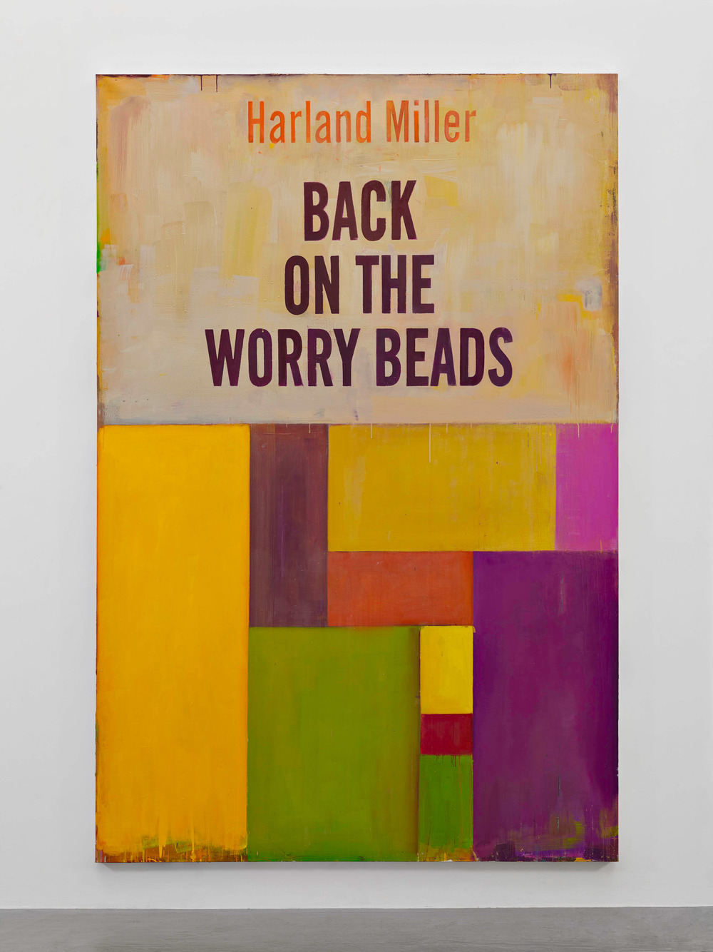 Harland Miller, Back On The Worry Beads, 2016, Oil on canvas, Courtesy the artist and BlainSouthern, Photo Peter Mallet