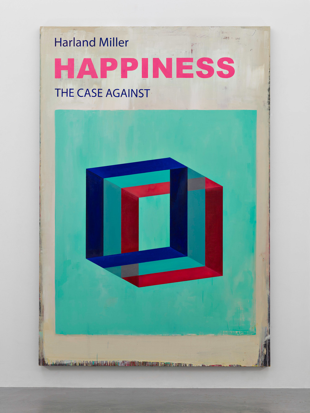 Harland Miller, Happiness The Case Against, 2016, Courtesy the artist and BlainSouthern, Photo Peter Mallet