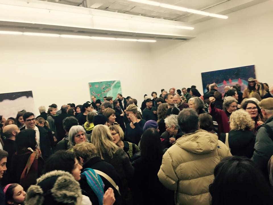 Opening night of Bradford's Show, Fear of Waves at Canada Gallery, L.E.S.