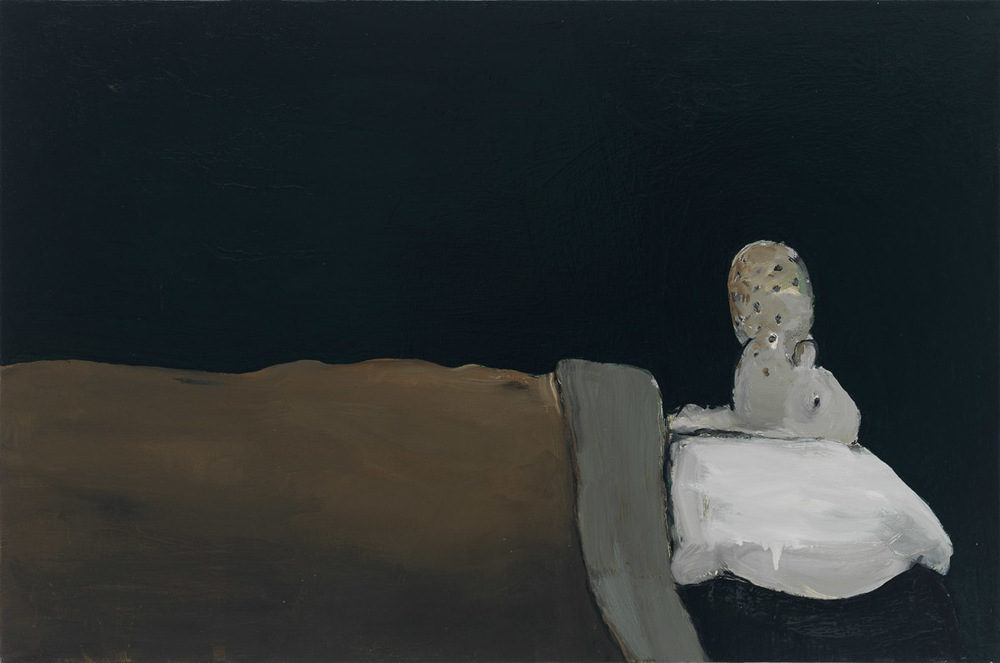 Untitled (Popeye), 1992 Oil on canvas 26 x 38 1/2 inches (66.04 x 97.79 cm) (ak#12568) courtesy Anton Kern Gallery, New York, and Corbett vs. Dempsey, Chicago. ©Brian Calvin