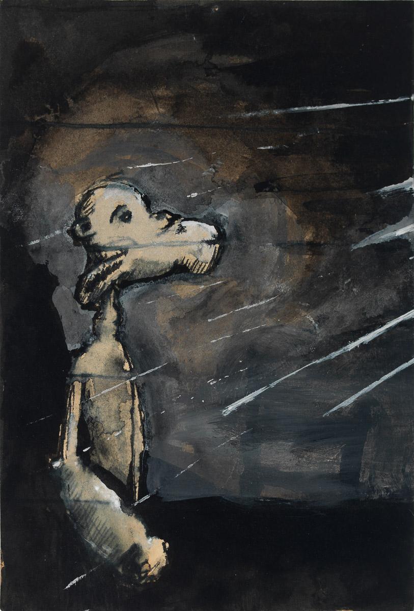 Shore Leave, 1992 Oil on canvas 38.25 x 26.5 inches (97.15 x 67.31 cm) (ak#12566) courtesy Anton Kern Gallery, New York, and Corbett vs. Dempsey, Chicago. ©Brian Calvin