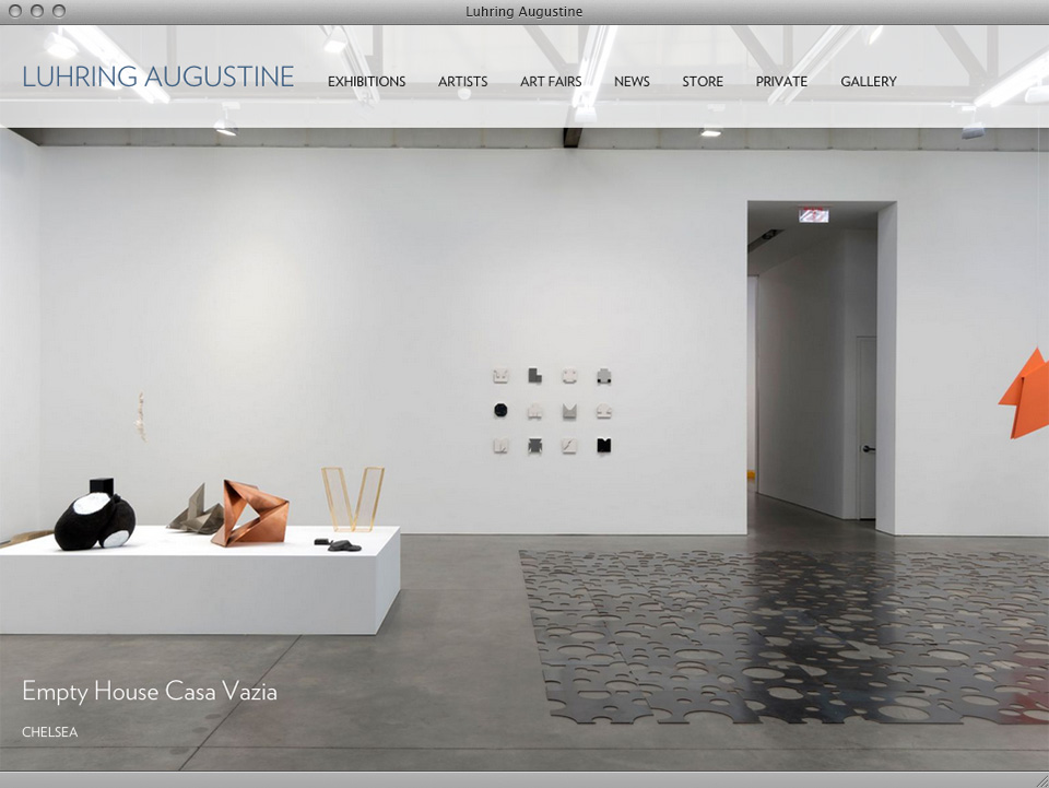 Luhring Augustine website designed by exhibit-E
