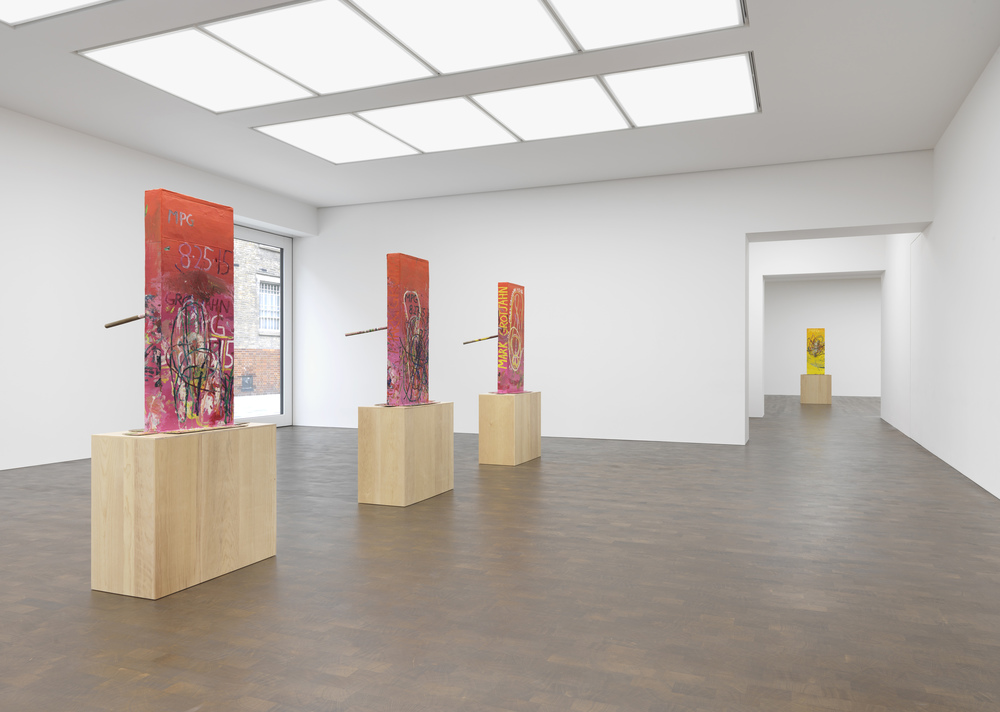 Installation view of Mark Grotjahn's Pink Cosco exhibition at Gagosian Grosvenor Hill gallery, June 24 - September 17, 2016