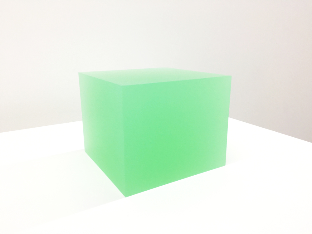 Peter Alexander 5/16/16 (Lime Green Box), 2016 urethane 7 x 8 x 8 inches Image courtesy of Parrasch Heijnen Gallery