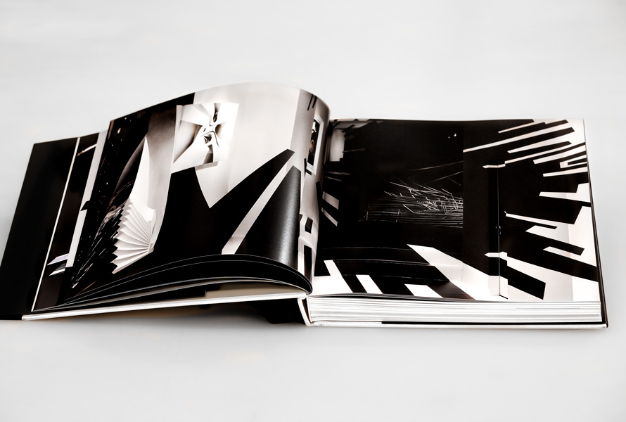 Zaha Hadid exhibition catalog in collaboration with Galerie Gmurzynska and Zaha Hadid studio. Design by Dan Miller Design