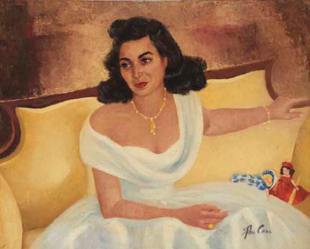 "John Carr, 1953, oil on canvas, 24"" x 30"""