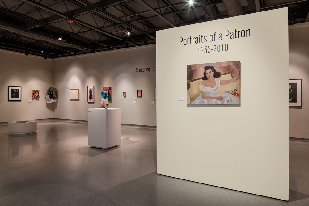 Installation view, Rendering Homage: Portraits of a Patron, May 20 - August 28th, 2016