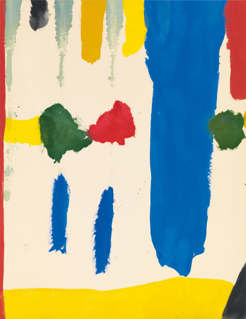 Helen Frankenthaler,  Parade , 1965, Acrylic on canvas, 73 × 56 1/2 inches (185.4 × 143.5 cm), © 2016 Helen Frankenthaler Foundation, Inc./Artists Rights Society (ARS), New York. Photo by Rob McKeever