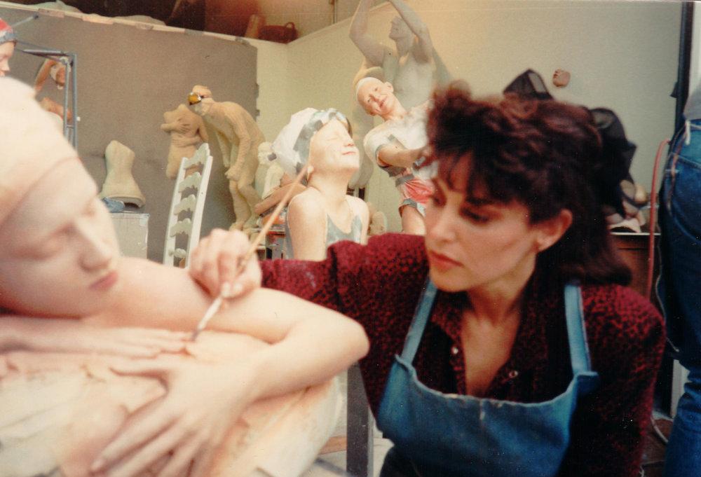 Carole painting Innertube