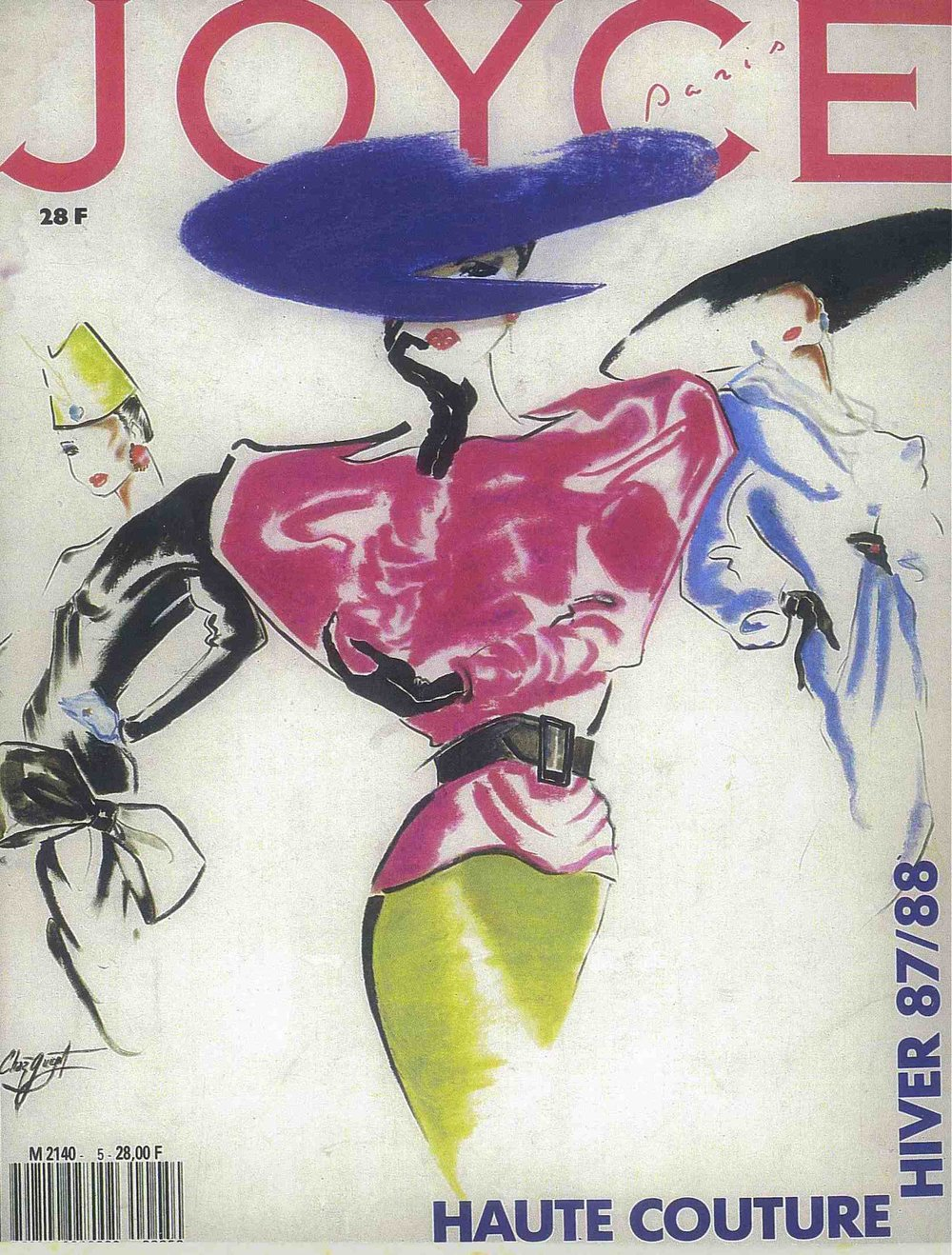 Joyce  magazine cover (1987), ink and pastels