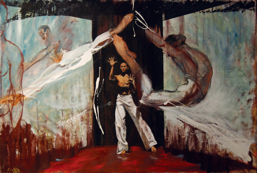 Abracadabra  (2008), oil on linen, 68 x 48""