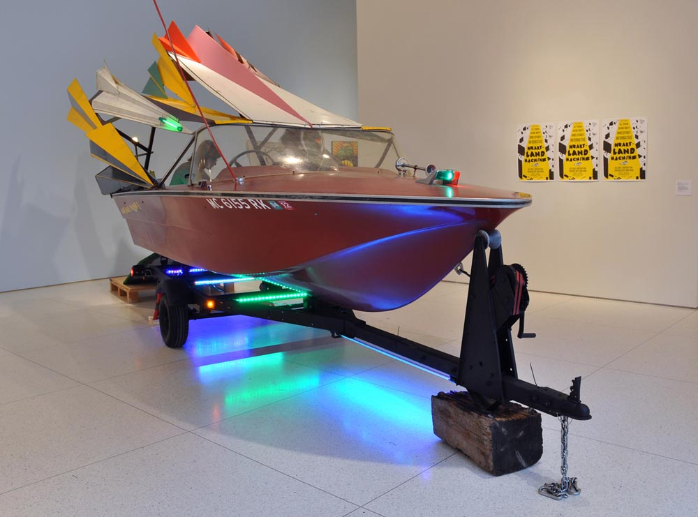 Heartland  installation view, Smart Museum of Art, Chicago, with  Heartland Machine  in foreground