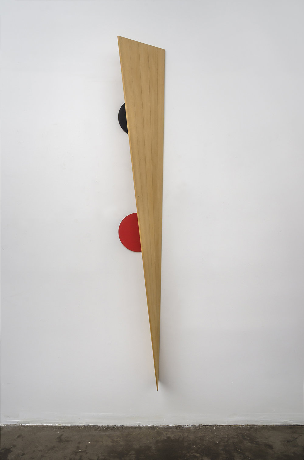 Pips Eclipse,  1993, acrylic on aluminum and wood, 100-1/2 x 13 x 9 inches