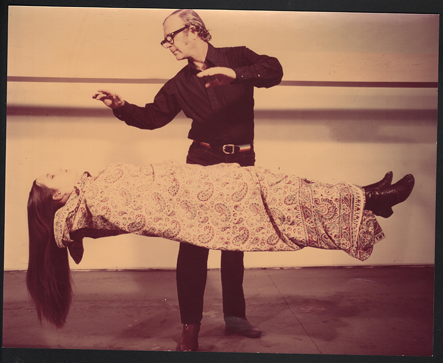 A Special Occurrence,  1971, performance at the Marcel Duchamp Festival at UC Irvine organized Barbara Rose and Moira Roth