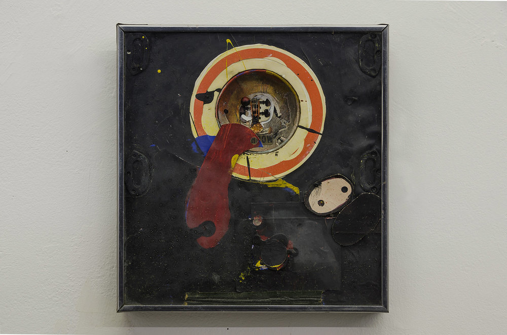 Throw,  1961, mixed media, 19 x 23 inches