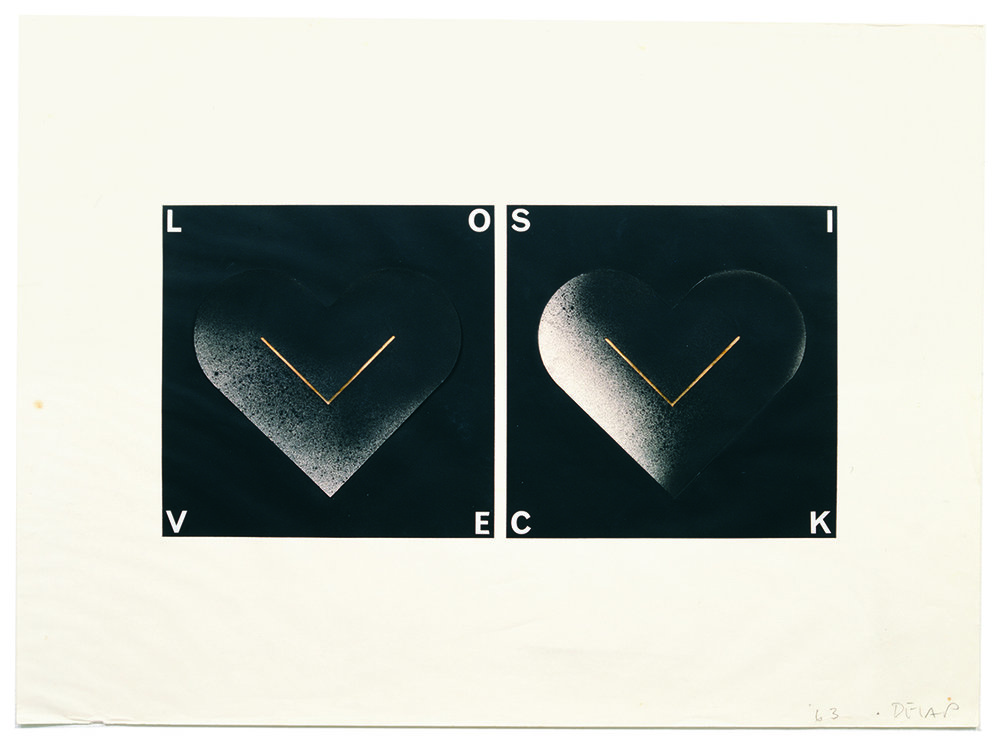 Drawing for Love Sick,  1963, graphite and ink on paper, 19-1/2 x 21 inches