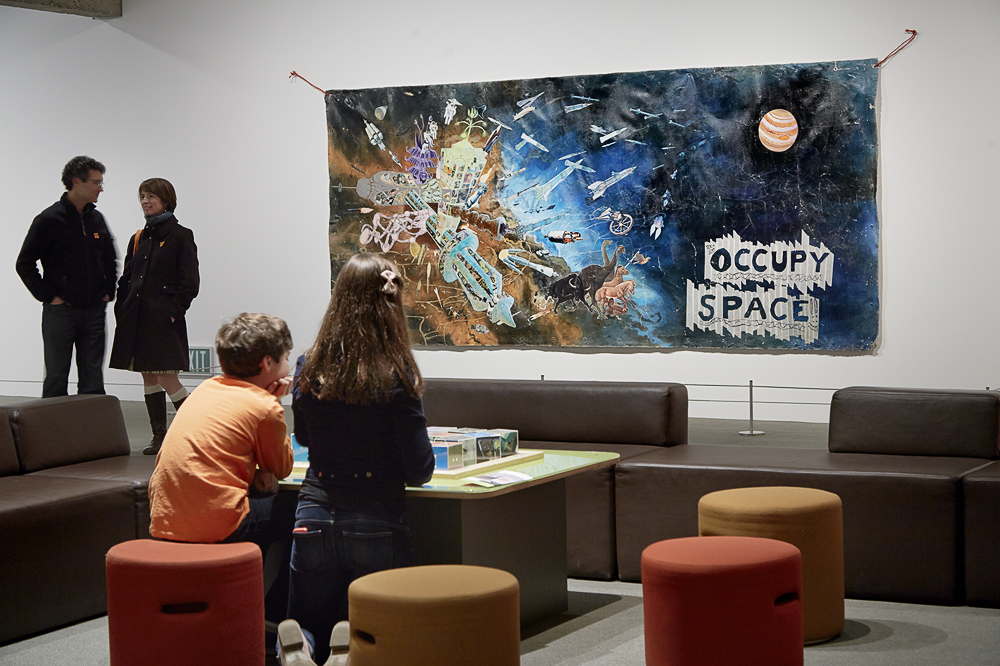 Installation View:   Miguel Arzabe   Occupy Space , 2006/2011, Gallery of California Art at OMCA. Courtesy of Oakland Museum of California. Photo:  Matthew Millman .