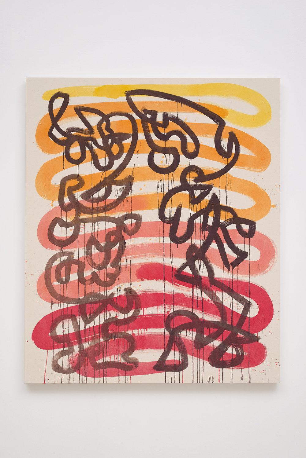 Monique Prieto  Zamba , 2014 Oil on primed canvas 152.4 x 121.9 cm 60 x 48 in Photo: © Monique Prieto Courtesy of Chimento Contemporary