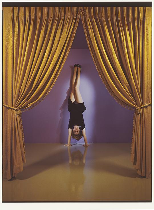 Jo Ann Callis  Performance , 1985 Signed in ink on verso Vintage Cibachrome Print 96.5 x 109.2 cm 38 x 43 in Photo: © Jo Ann Callis Courtesy of ROSEGALLERY