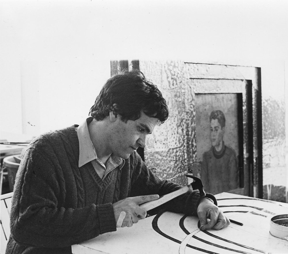 Tony Berlant in studio - 1982