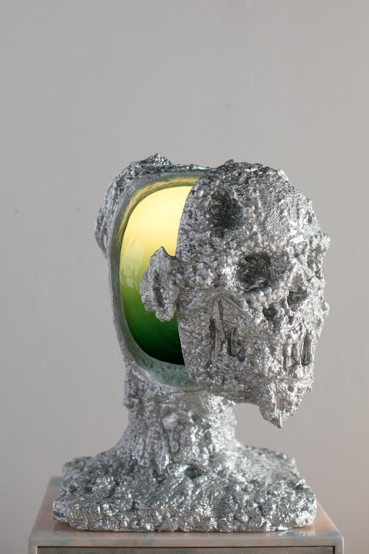 Nite Light , 2018 71 x 21 x 21 inches Steel, polystyrene, aluminum, nylon fiber, glass, and resin