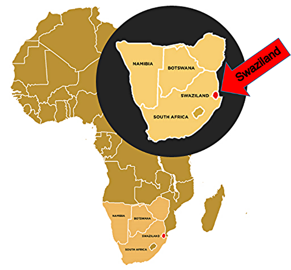 Map of Africa with Swaziland.png