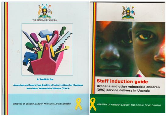 Several of the newest governmental brochures regarding improving the services for orphans and other vulnerable children in Uganda.