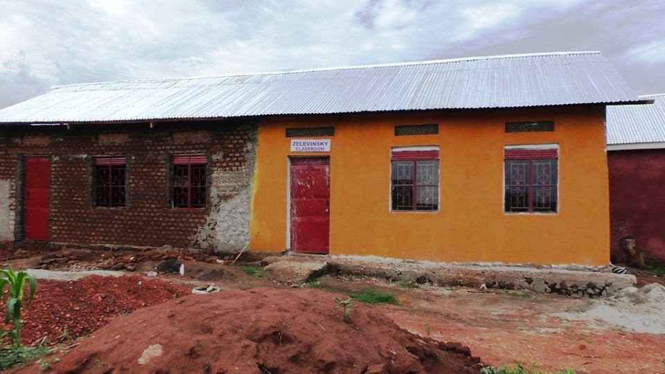 Construction underway on the Bright Future Classroom, next to the Zelevinsky Classroom at BiZoHa