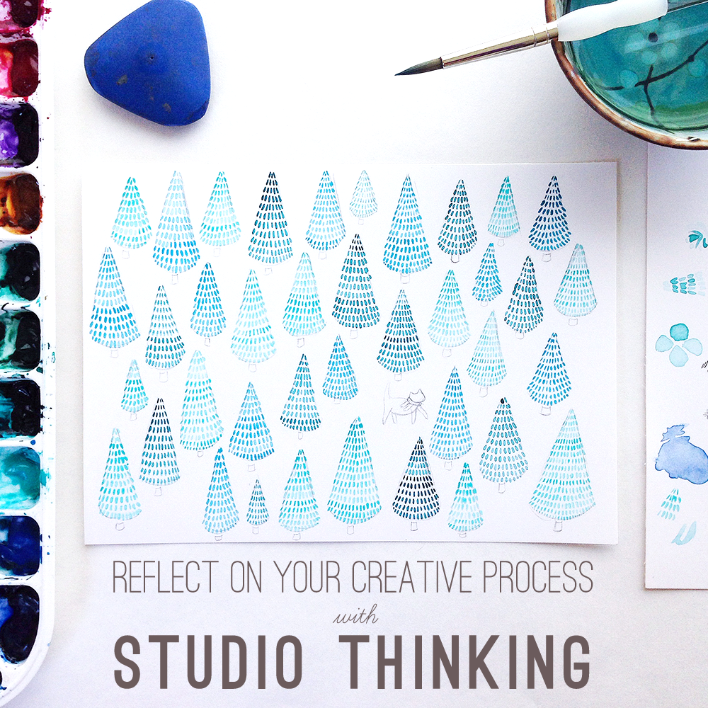How to reflect on your creative process with Studio Thinking from Yardia by Brigida Swanson | art, leadership and education