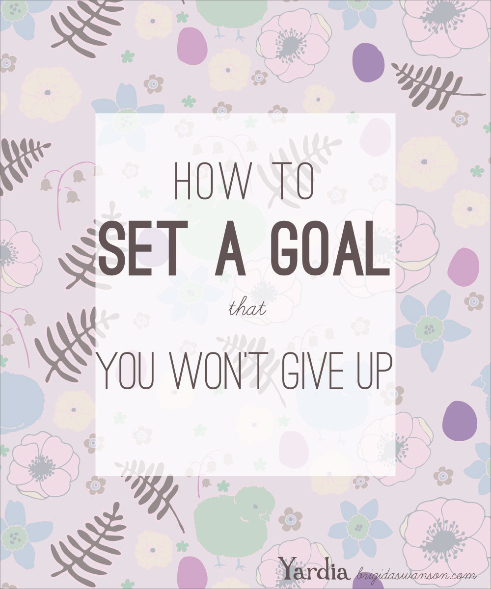 Learn how to set goals that are rooted in your values and take action with strategies to prevent you from giving up on your goal